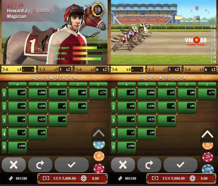 game đua ngựa điện tử thẻ