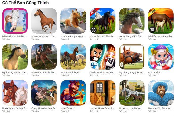 trò chơi đua ngựa ăn xu